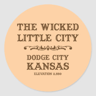 Dodge City Kansas Classic Round Sticker