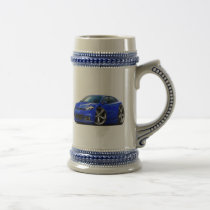 Dodge Dart Blue Car Beer Stein