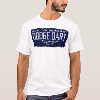 Dodge Dart  Blue Classic Winged Skull Erode T-Shirt
