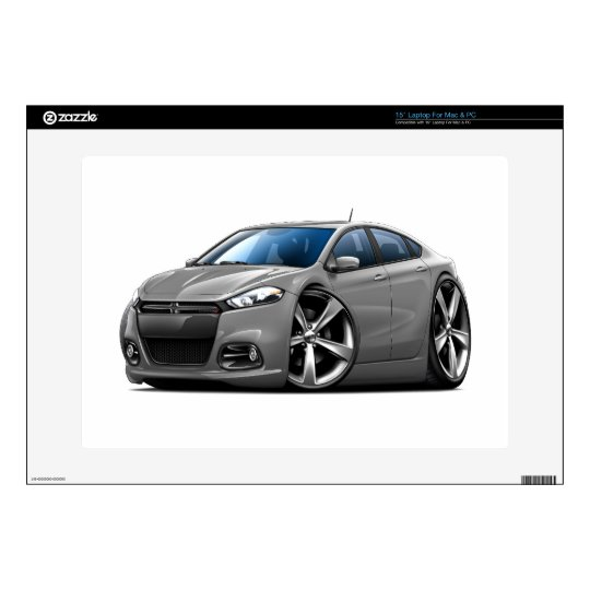 Dodge Dart Grey Black Grill Car Laptop Decals