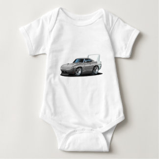 Dodge Daytona Grey Car Baby Bodysuit