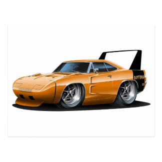 Dodge Daytona Orange Car Post Cards
