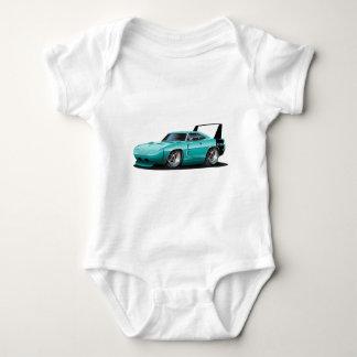 Dodge Daytona Teal Car Baby Bodysuit