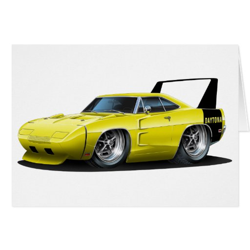 Dodge Daytona Yellow Car Greeting Cards