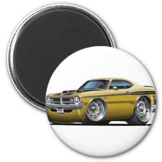 Dodge Demon Gold Car 2 Inch Round Magnet