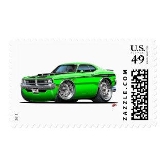 Dodge Demon Green Car Postage Stamp
