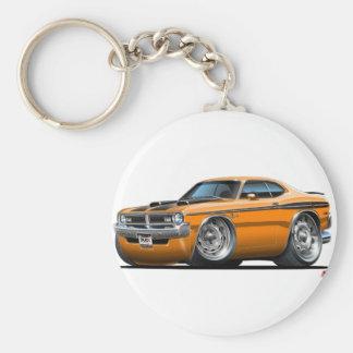 Dodge Demon Orange Car Basic Round Button Keychain