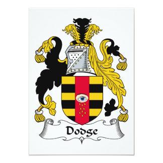 Dodge Family Crest 5x7 Paper Invitation Card