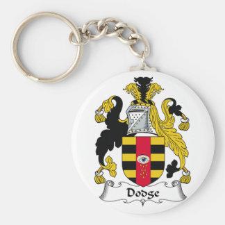 Dodge Family Crest Keychain