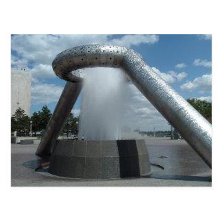 Dodge/Hart Plaza Fountain Postcard
