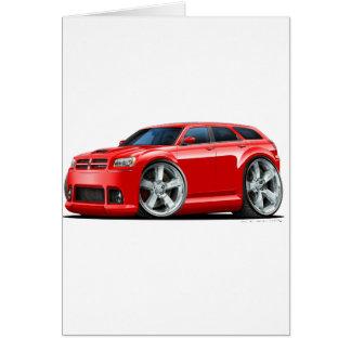 Dodge Magnum Red Car Greeting Card