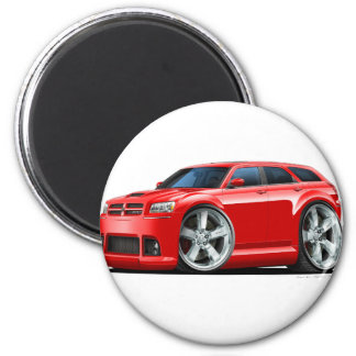 Dodge Magnum Red Car 2 Inch Round Magnet