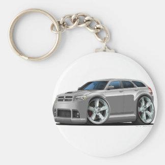 Dodge Magnum Silver Car Basic Round Button Keychain