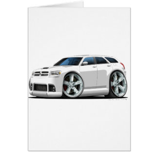 Dodge Magnum White Car Greeting Card
