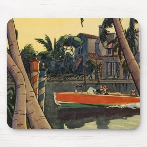 Dodge Motor Speed Boat Jungle Cruise Mouse Pad