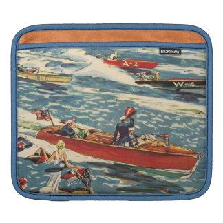 Dodge Motor Speed Boat Vintage Antique Row Ocean iPad Sleeve