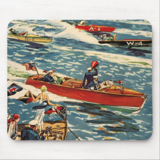 Dodge Motor Speed Boat Vintage Antique Row Ocean Mouse Pad