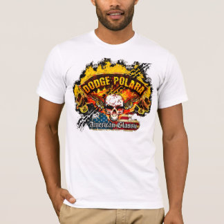 Dodge Polara - Burnout Banner Skull -n- Flag T-Shirt