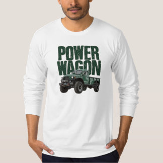 Dodge Power Wagon and text on long-sleeved t-shirt