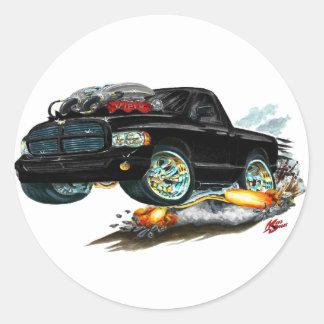 Dodge SRT10 Black Truck Round Sticker