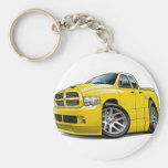 Dodge SRT10 Ram Dualcab Yellow Keychains