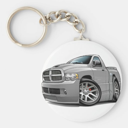 Dodge SRT10 Ram Grey Keychains