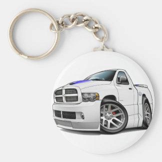Dodge SRT10 Ram White Keychain