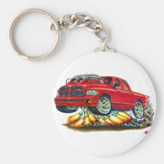 Dodge SRT10 Red Dual Cab Truck Keychain