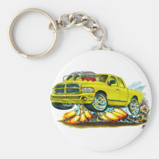 Dodge SRT10 Yellow Extended Cab Truck Keychain