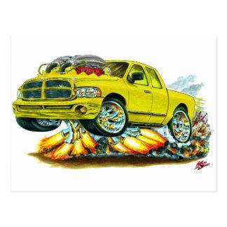 Dodge SRT10 Yellow Extended Cab Truck Postcard