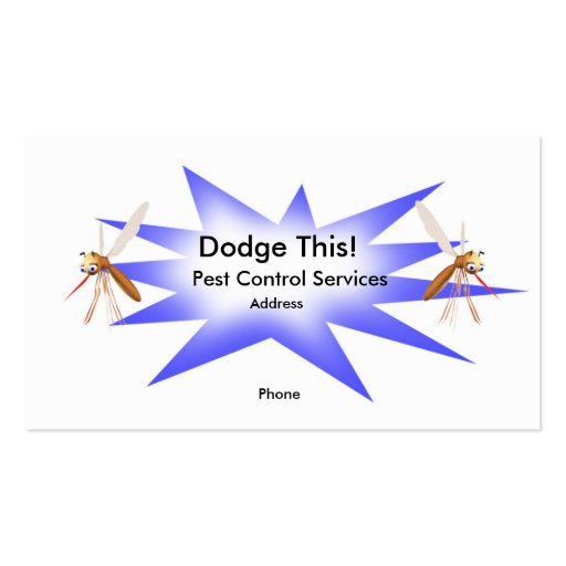 Dodge This! Pest Control Blue - Business Double-Sided Standard Business Cards (Pack Of 100)