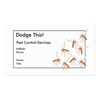 Dodge This! Pest Control - Border - Business Double-Sided Standard Business Cards (Pack Of 100)