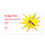 Dodge This! Pest Control Yellow Spark - Business Double-Sided Standard Business Cards (Pack Of 100)