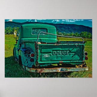 Dodge verde póster