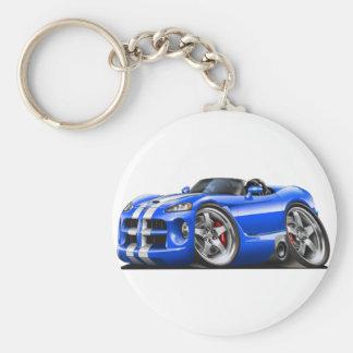Dodge Viper Roadster Blue-White Car Keychain
