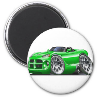 Dodge Viper Roadster Green Car Magnet