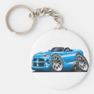 Dodge Viper Roadster Lt Blue Car Keychain