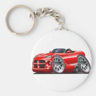 Dodge Viper Roadster Red Car Keychain