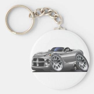 Dodge Viper Roadster Silver Car Keychain