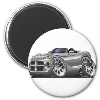 Dodge Viper Roadster Silver Car Refrigerator Magnets