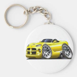 Dodge Viper Roadster Yellow Car Keychain