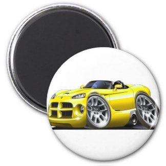 Dodge Viper Roadster Yellow Car Refrigerator Magnets