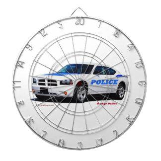 Dodge_White_Police _Texturized Tablero De Dardos