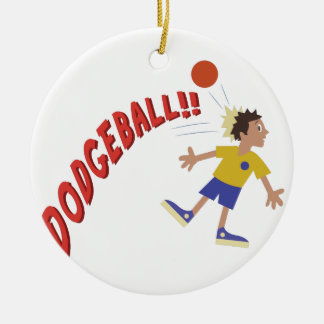 Dodgeball Ceramic Ornament