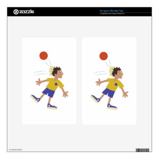 Dodgeball Kid Decal For Kindle Fire