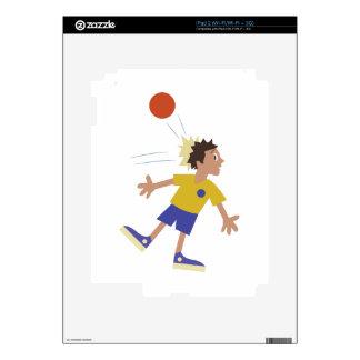 Dodgeball Kid iPad 2 Decal