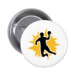 Dodgeball player 2 inch round button