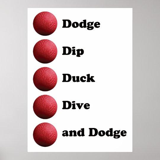dodgeball poster zazzlecom