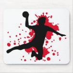 dodgeball sangriento del balonmano mouse pad