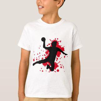 dodgeball sangriento del balonmano playera